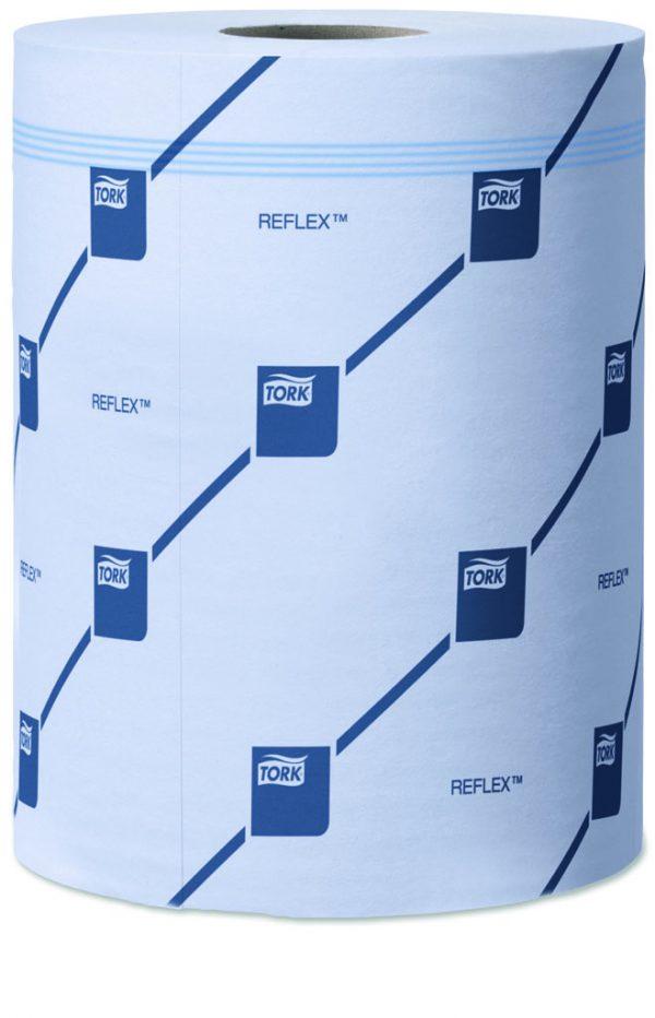 Rotolo asciugamano a sfilo centrale TORK REFLEX bleu. 2 veli